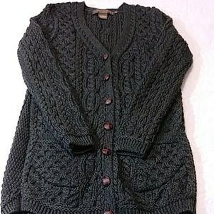 Irish Sweater Merino Wool Sz M Inis Crafts